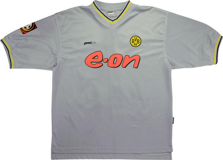 Borussia Dortmund 2000 01 Away Shirt Rare Football Shirts